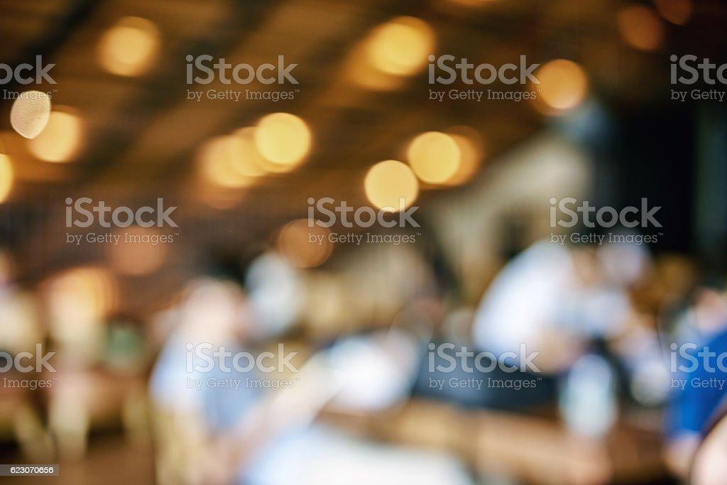 Blurred background : Customer at restaurant blur background with