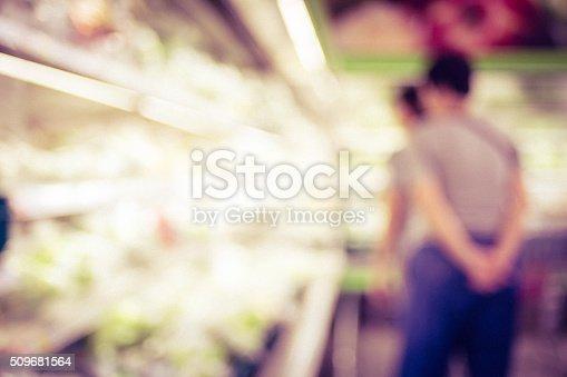 1072974214 istock photo Blurred background : Customer select food product on shelf 509681564