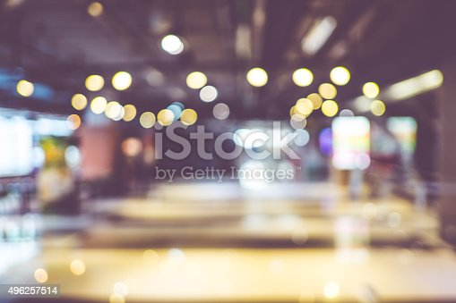 istock Blurred background : Customer shopping at department store with 496257514