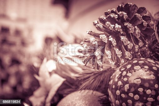 istock Blurred background of Christmas theme 686819834