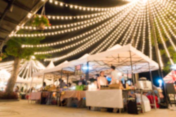 blurred background of flea market – Foto