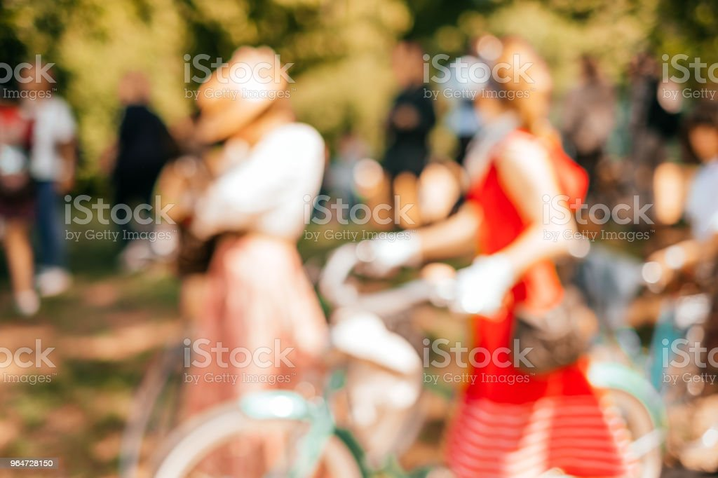 Blurred background of girls royalty-free stock photo