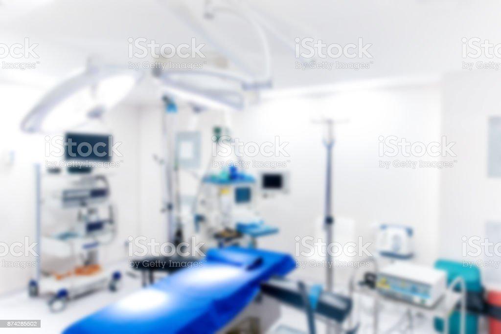 Arrièreplan Flou De La Chambre Dhôpital Dispositifs Médicaux Et Des ...