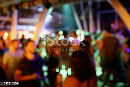 860440036 istock photo Blurred background of many people had fun at a beach party 1095814336