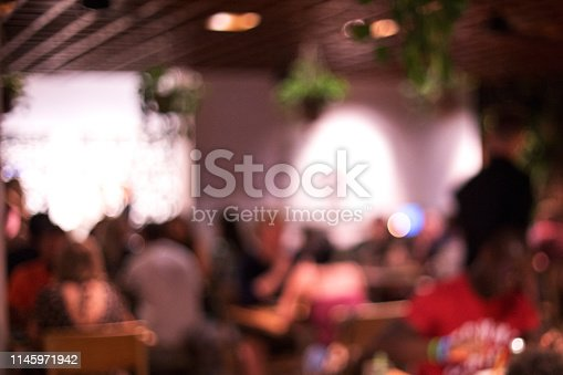 613897214istockphoto Blurred background of many people had fun at a beach party. 1145971942