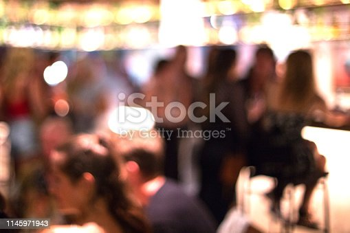 613897214istockphoto Blurred background of many people had fun at a beach party. 1145971943