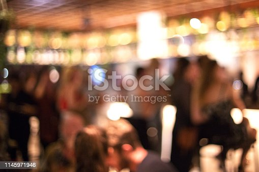 613897214istockphoto Blurred background of many people had fun at a beach party. 1145971946
