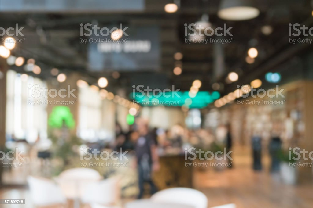 Blurred Background Of Modern Library stock photo