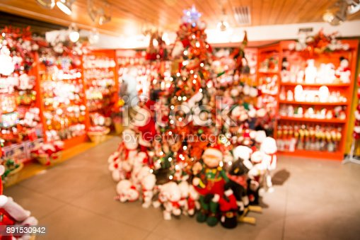 926078666 istock photo Blurred background of the store before Christmas 891530942