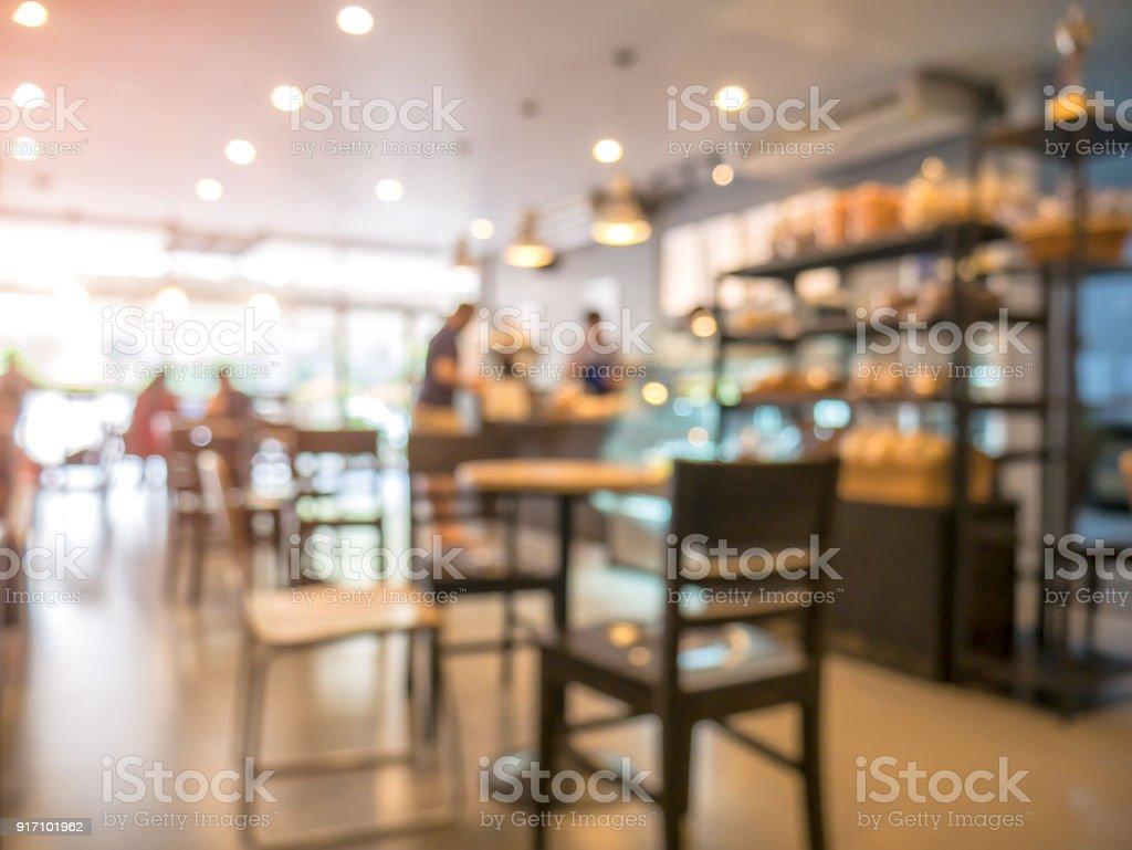 Der Hintergrund jedoch unscharf, Menschen in Coffee-shop – Foto