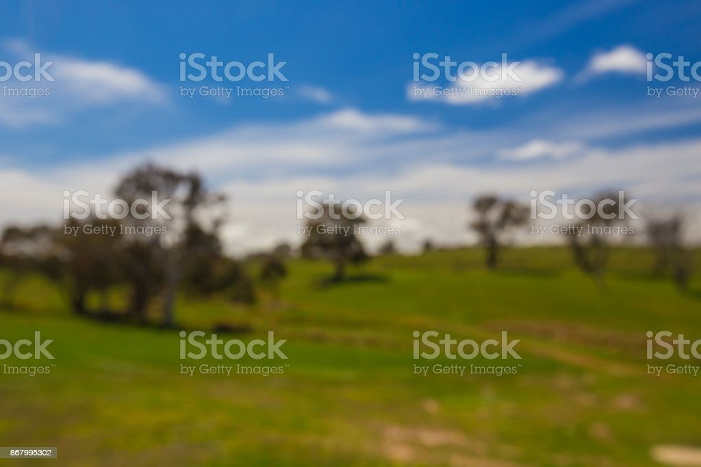 Blurred background scene of a country vista stock photo