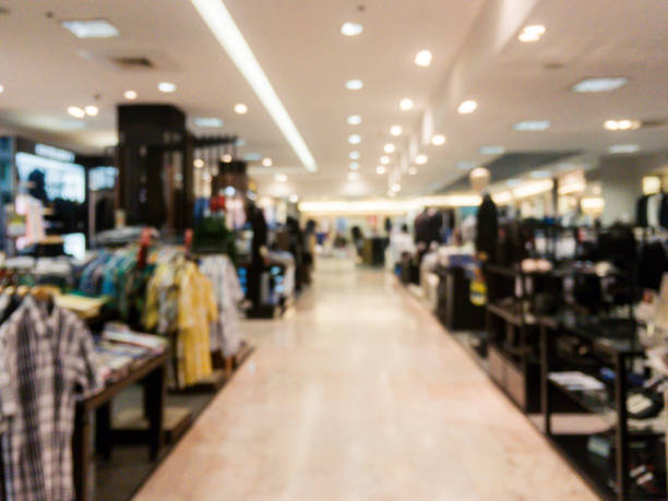 Blurred background - Store of shopping mall blur background with bokeh. vintage filtered image. Blurred background - Store of shopping mall blur background with bokeh. vintage filtered image. distribution center stock pictures, royalty-free photos & images