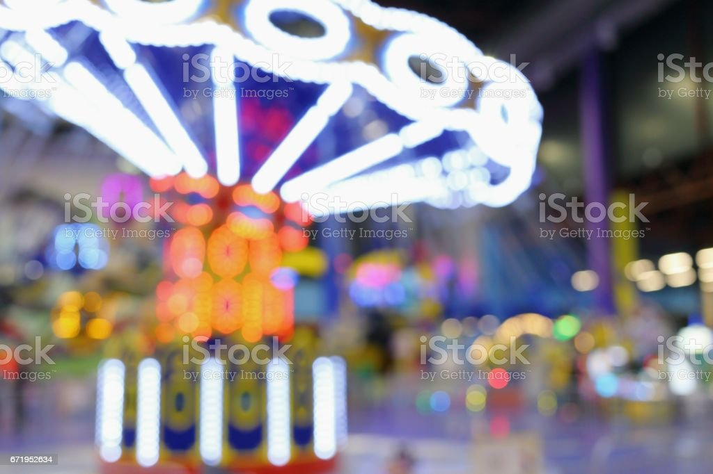 Blurred background the children's carousel stock photo