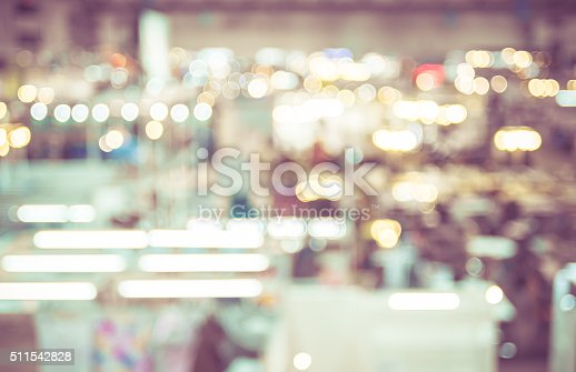 istock Blurred background : Top view of people walking in exhibition 511542828