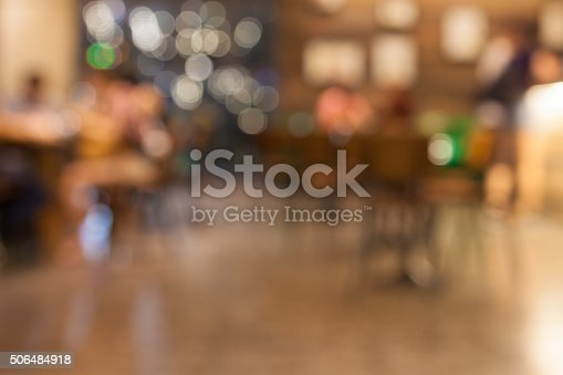 Blurred background – cafe – restaurant – urban scene