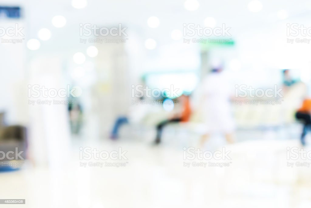 Blurred background : Vintage filter patient waiting for see doct stock photo