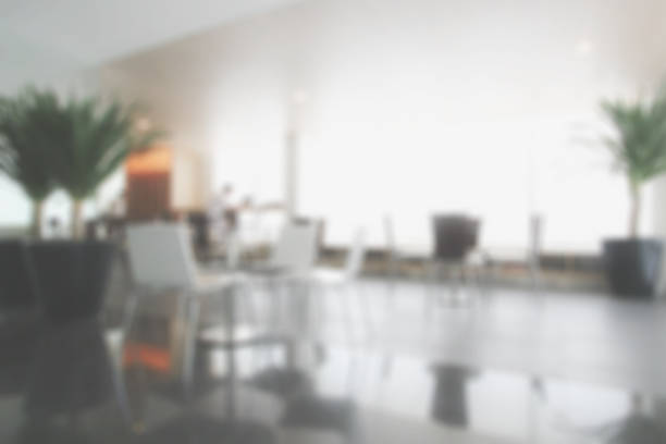 Blurred background waiting area at lobby or lounge stock photo