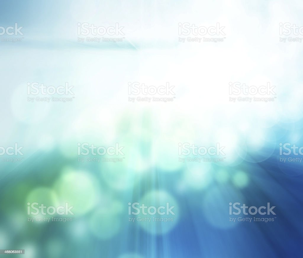 Blurred background with aquas and blues stock photo