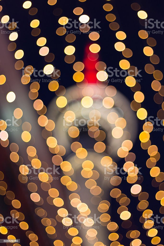 Blurred background with night city illuminated for Chinese New Year stock photo