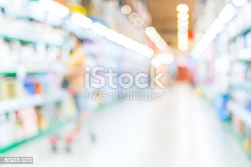 1072974214 istock photo Blurred background,Customer shopping at Supermarket store blur b 509681620