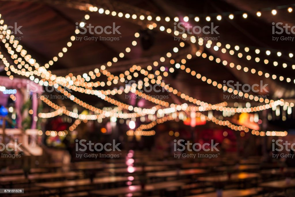 Blurred Beer Tent stock photo