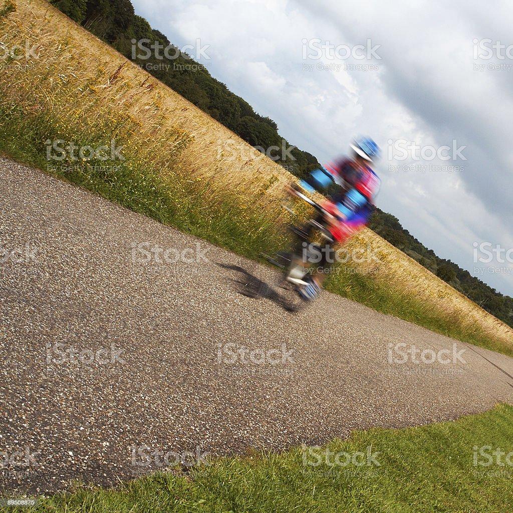 Blurred biker royalty-free stock photo