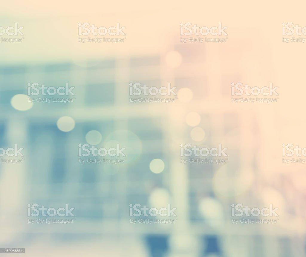 Blurred blue bokeh modern exterior background stock photo