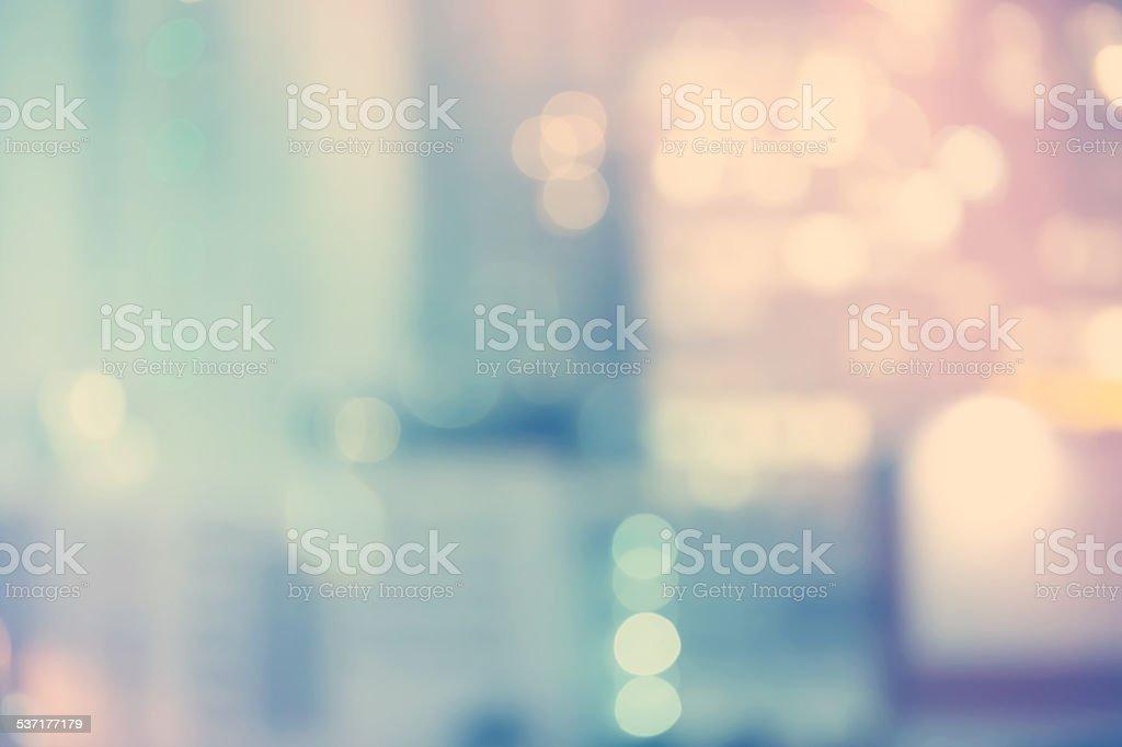 Blurred blue cityscape background scene stock photo