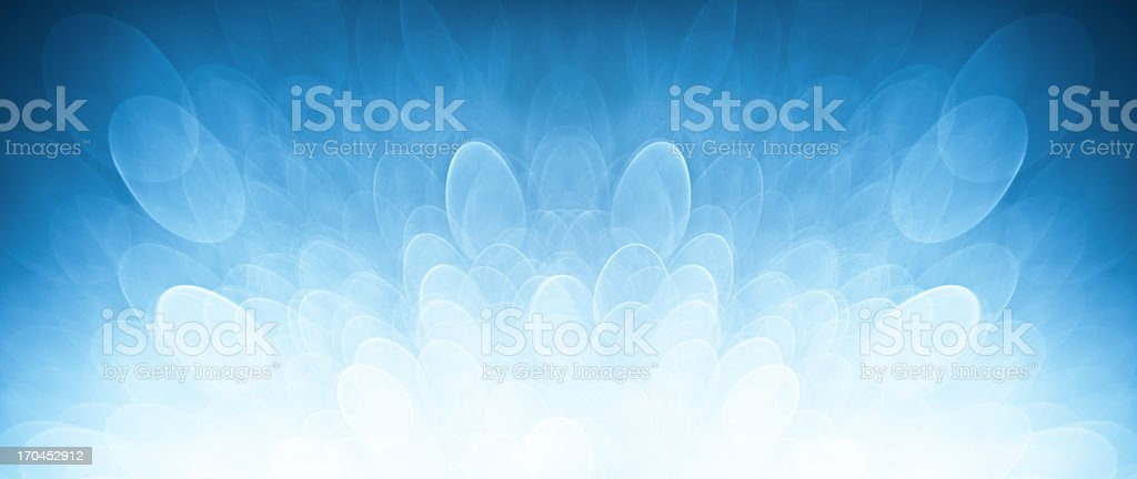 Blurred blue lights stock photo