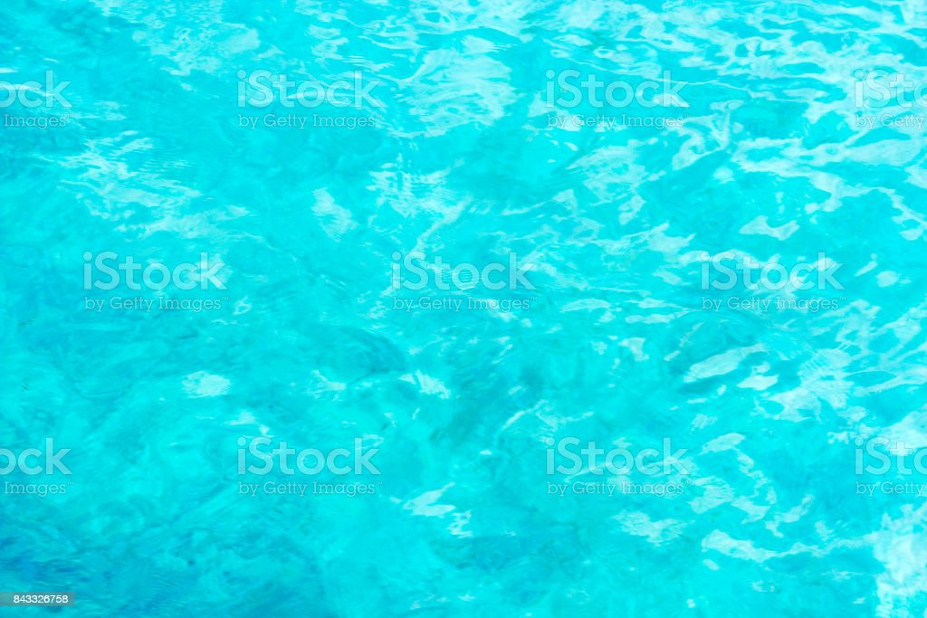 Blurred blue Mediterranean sea background top view stock photo