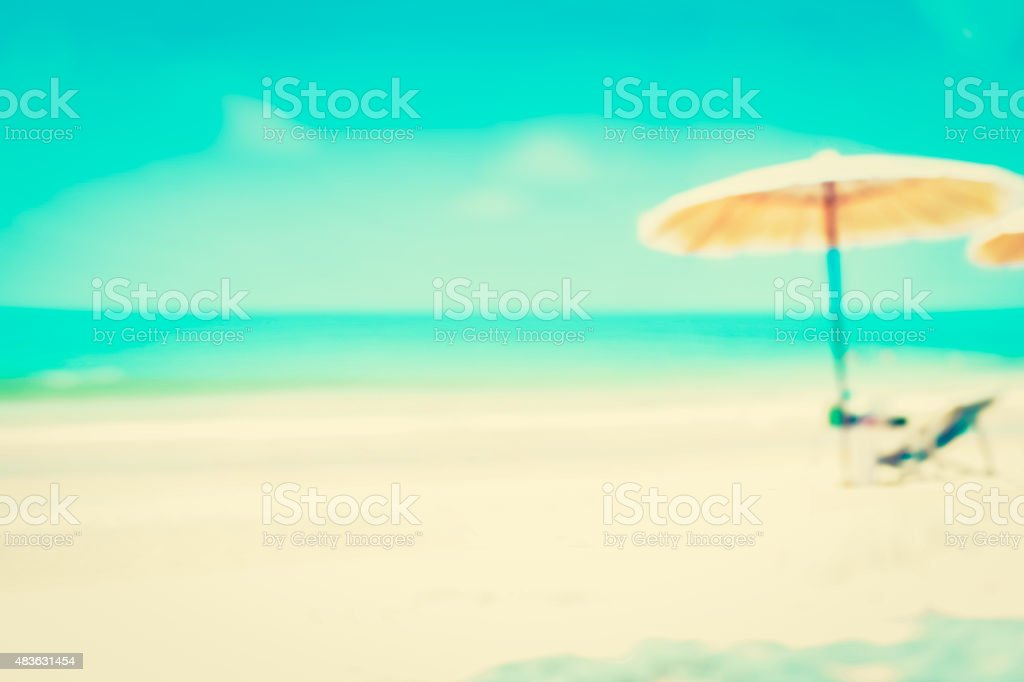 Offuscata Blu Mare E Sabbia Bianca Beachfor Sfondo Fotografie