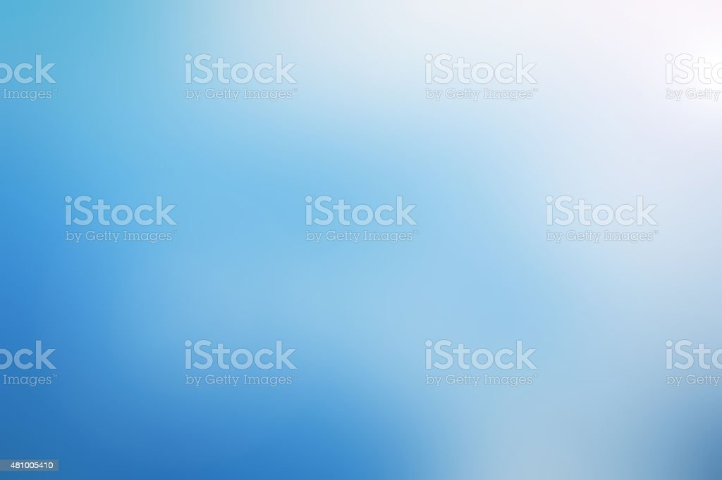 Blurred blue sky background. stock photo