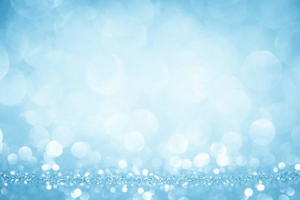 Verschwommene blaue glitzert und glänzt – Foto