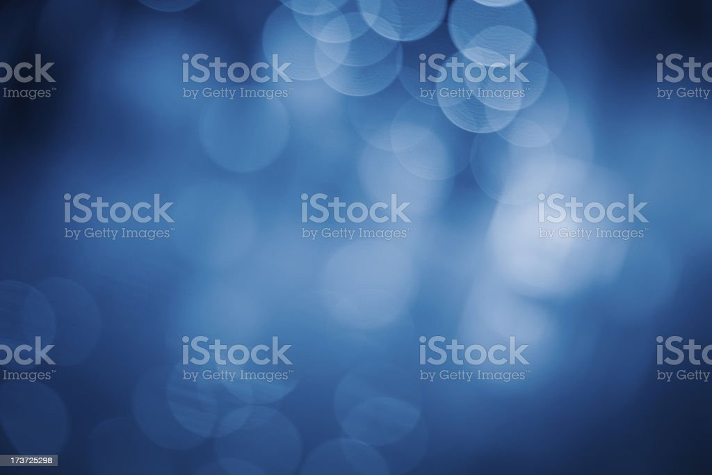 Blurred blue sparkles stock photo