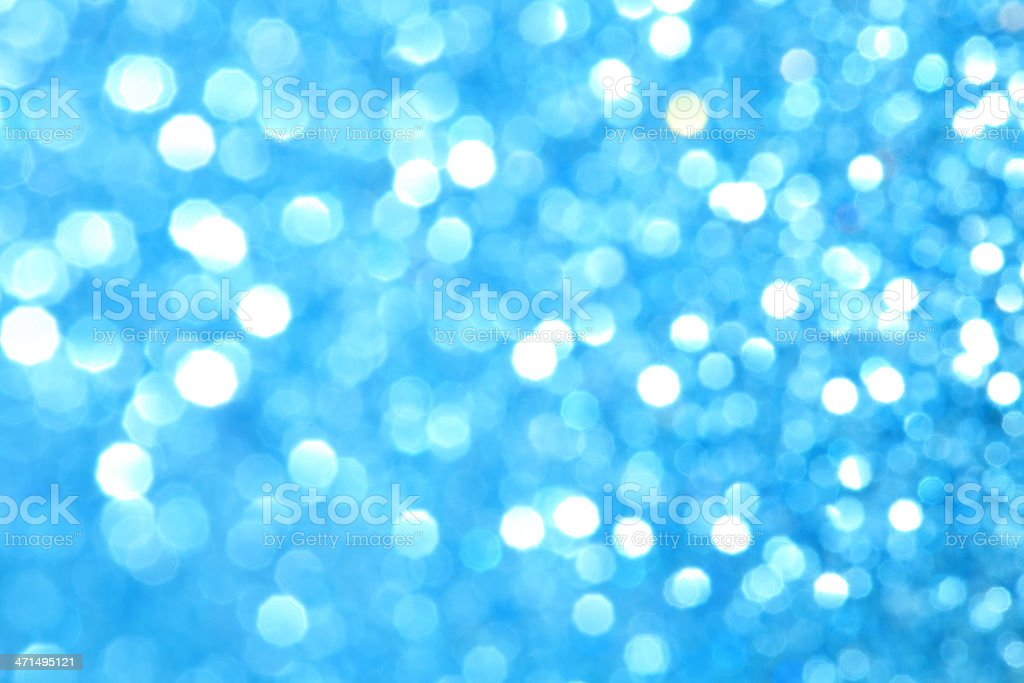 Blurred blue sparkles royalty-free stock photo
