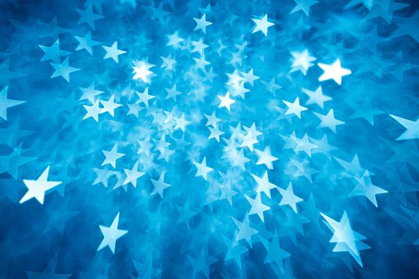 Verschwommene blaue Stern lights – Foto