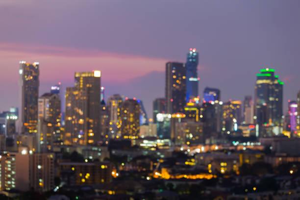 模糊的博克光曼谷城市商業中心圖像檔