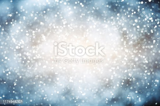 Defocused Lights and Sparkles blue background