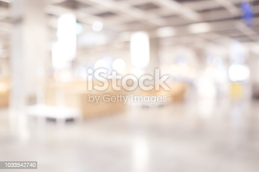 Blurred business background, Blur warehouse with bokeh light background