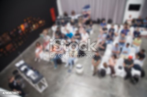 614852062 istock photo Blurred Business Conference 478362862