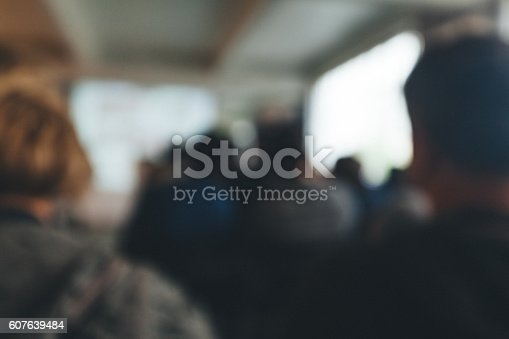 614852062 istock photo Blurred Business Conference 607639484