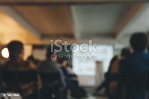 614852062 istock photo Blurred Business Conference 607640366