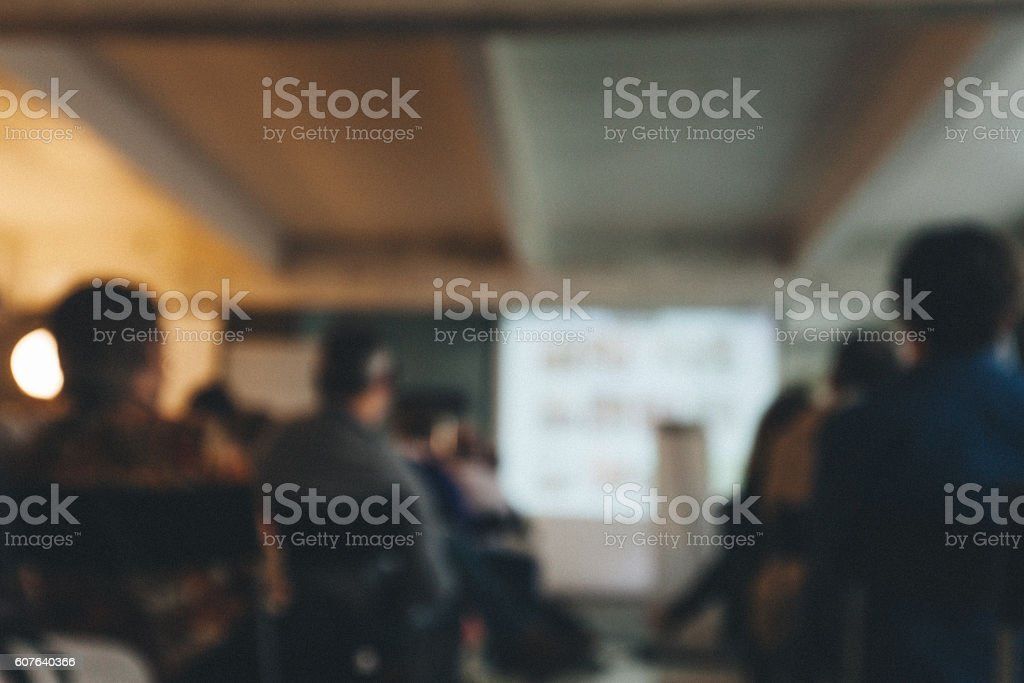 Blurred Business Conference stock photo