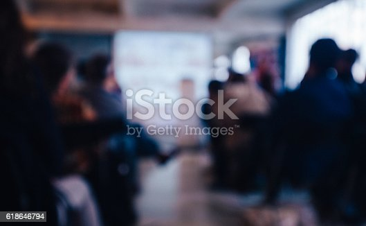 istock Blurred Business Conference 618646794