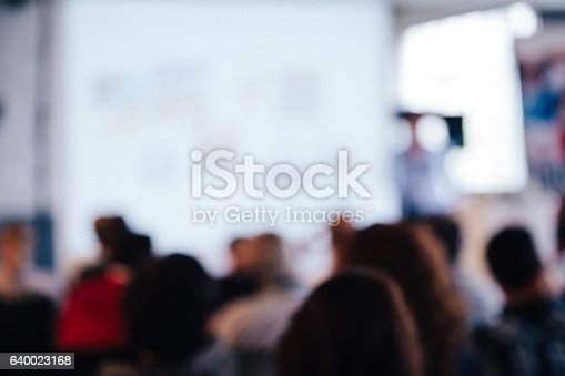 614852062 istock photo Blurred Business Conference 640023168