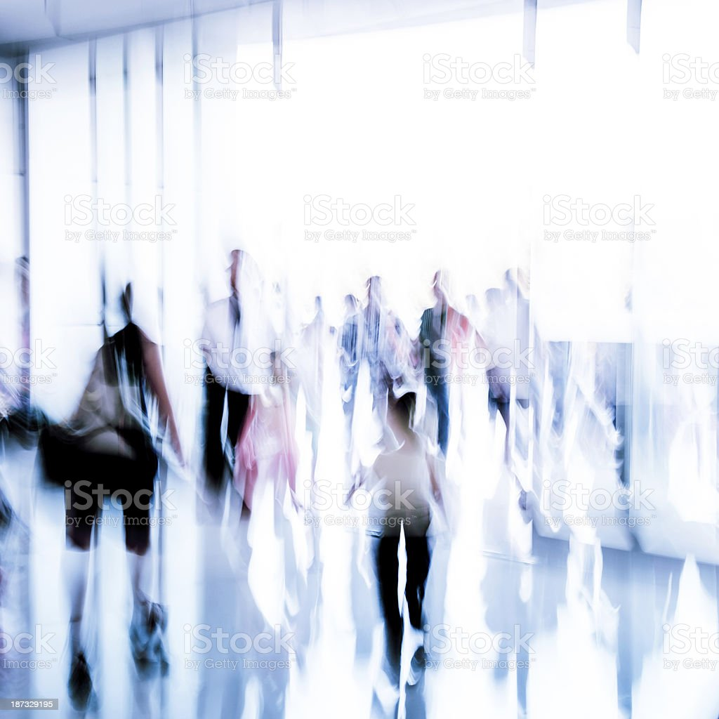 Blurred business passengers royalty-free stock photo
