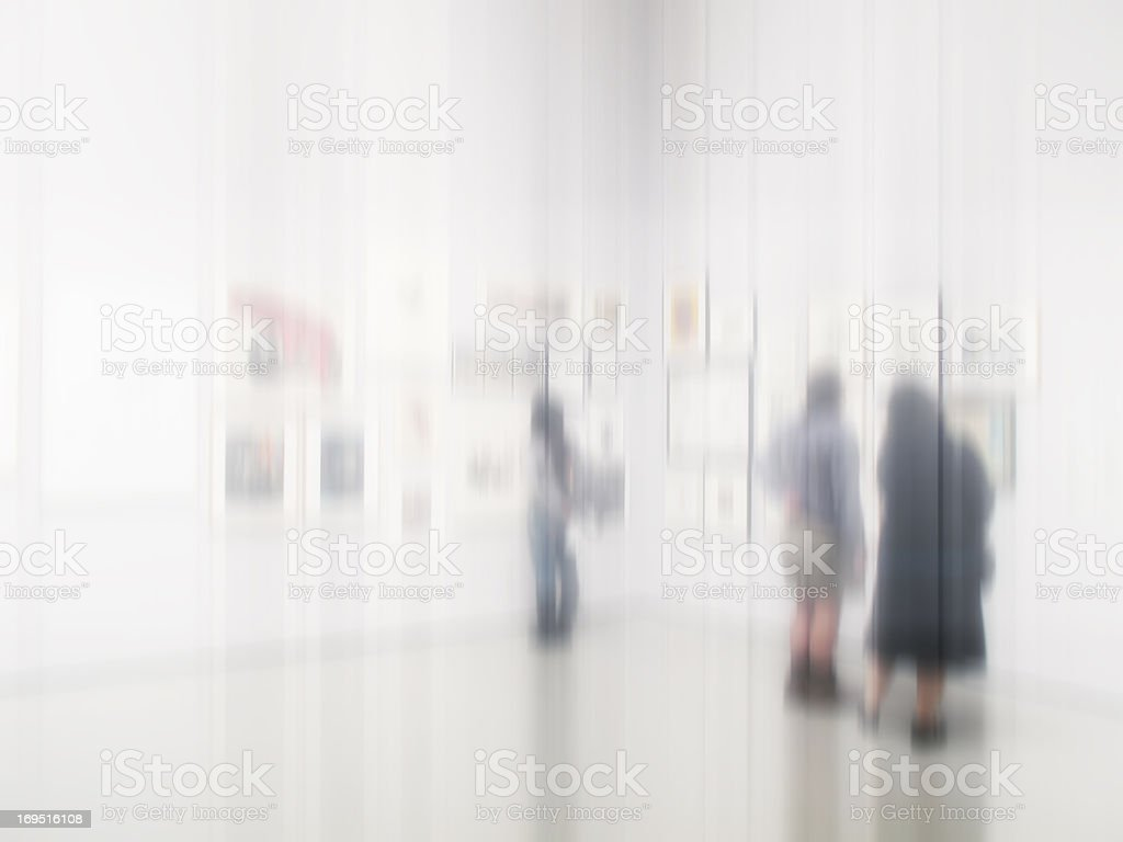 Blurred business people - abstract and lots of copy-space royalty-free stock photo