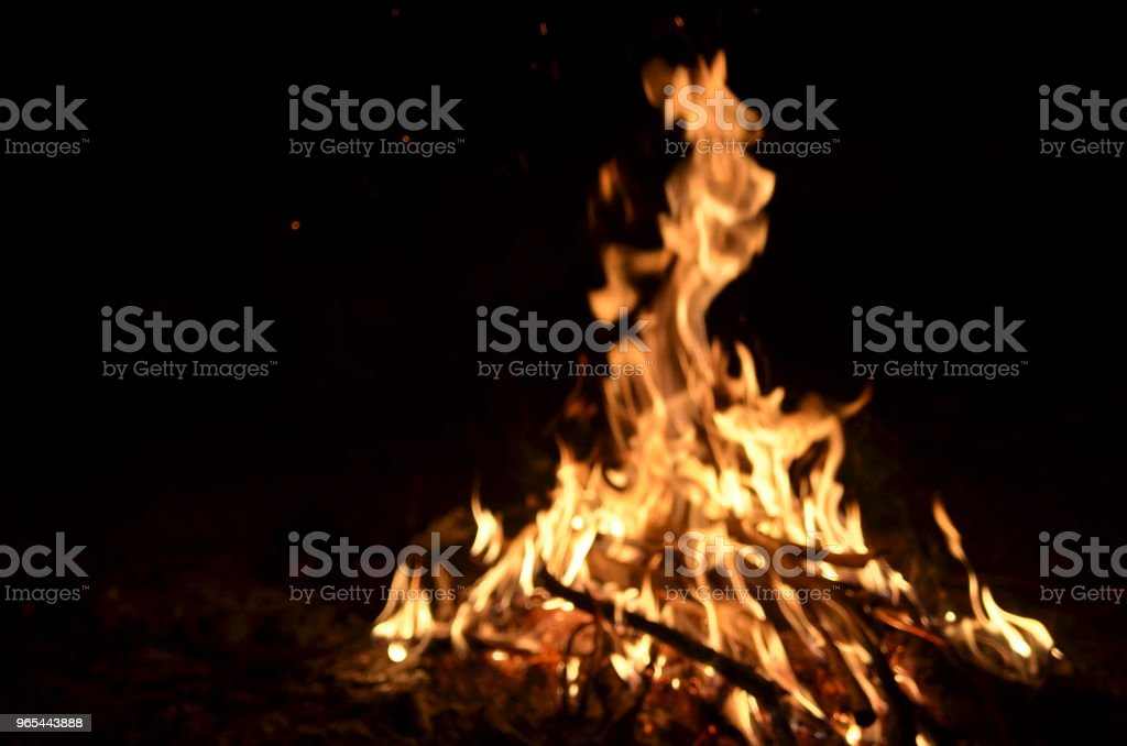 Blurred campfire flames royalty-free stock photo
