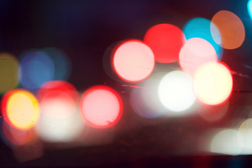 istock Blurred Car Lights Through a Windshield 523434021