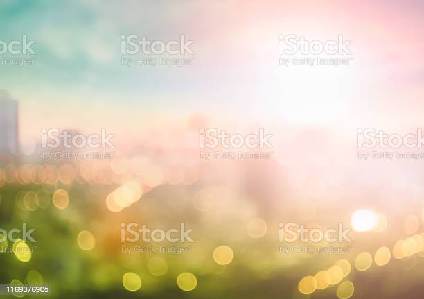 Photo of Blurred city background